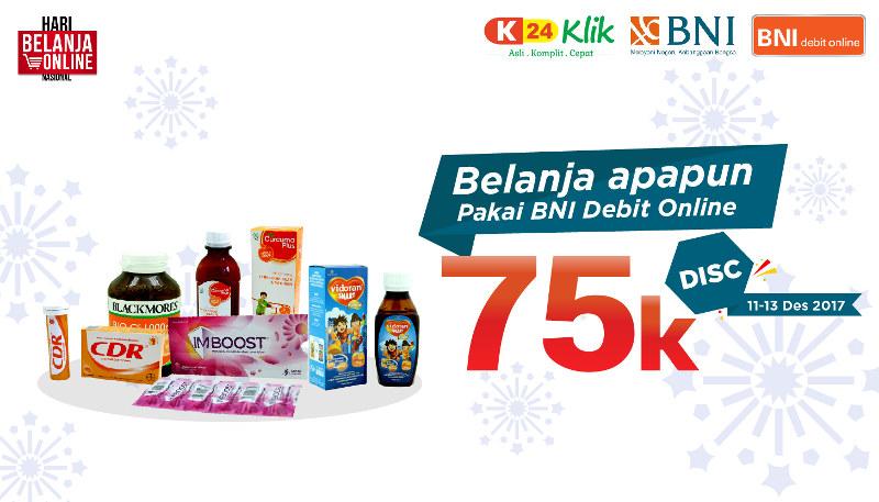 Harbolnas 2017 K24Klik dengan BNI Debit Online