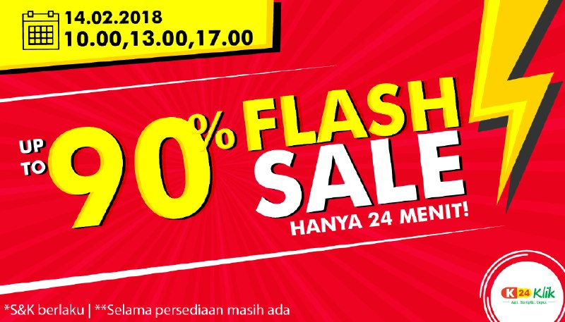 Flash Sale 24 Menit