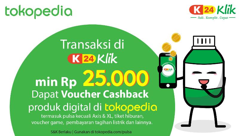 Dapatkan Voucher Digital Tokopedia Di K24klik Com