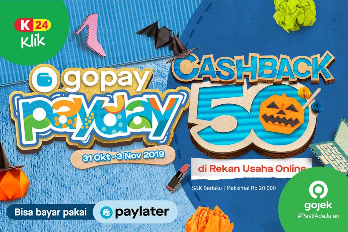 Cashback 50 Di K24klik Payday Bersama Gopay K24klik