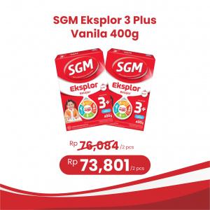 Apotek Online - SGM EKSPLOR 3 PLUS VANILA 400G (2 PCS)
