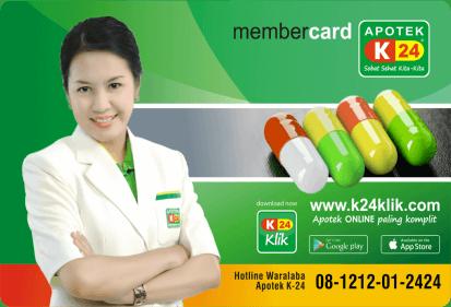 Cara Mendaftarkan Kartu Member Apotek K-24 di Website K24Klik.com