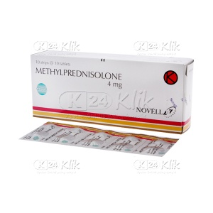 METHYLPREDNISOLON NOVELL 4MG TAB