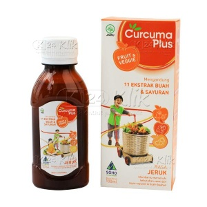 CURCUMA PLUS FRUIT VEGGIE SYR RASA JERUK 100ML