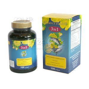 JUAL NATURE HEALTH S+OMG 3+EPO 100'S