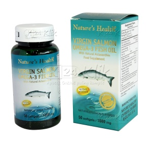 NATURE HEALTH VIRGIN S.OMEGA-3 LEMON CP 50'S