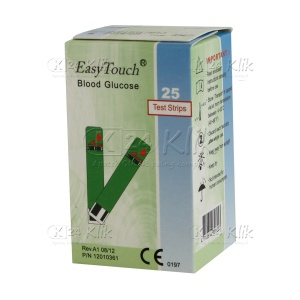 EASY TOUCH GLUCO TEST STRIP 25'S