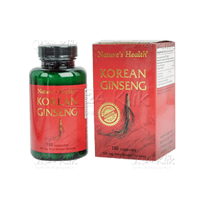 NATURE'S HEALTH KOREAN GINSENG 100 KAPSUL