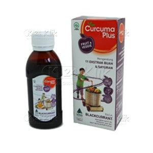 CURCUMA PLUS FRUIT VEGGIE SYR RASA BLACKCURANT 100ML