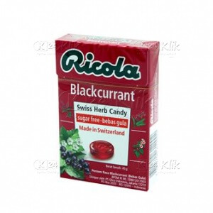 RICOLA SF BLACKCURRANT CANDY 45G