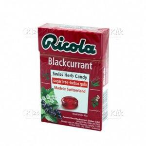 RICOLA SF BLACKCURRANT CANDY 45G