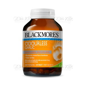 BLACKMORES ODOURLESS GARLIC TAB 200 BTL