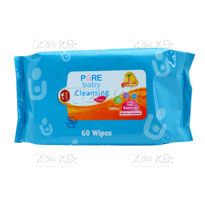 PUREBABY CLEANSING WIPES LEMON 60S