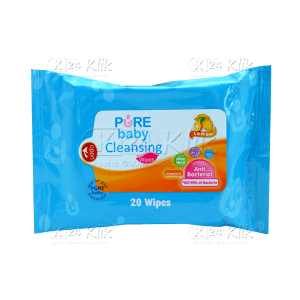 PUREBABY CLEANSING WIPES LEMON 20S