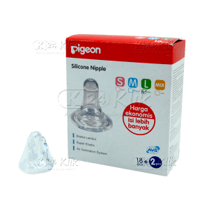 PIGEON SILICONE NIPPLE L 18S
