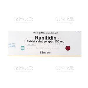 RANITIDINE LANDSON 150MG TAB 100S
