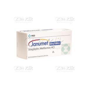 JANUMET 50/1000MG TAB 28S