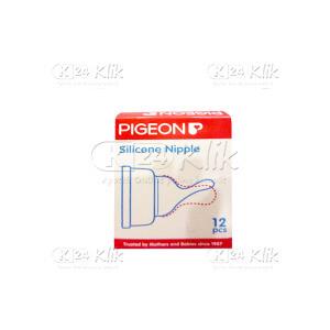 PIGEON SILICONE NIPPLE S 12'S