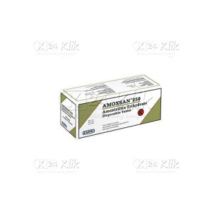 AMOXSAN DISPERSIBLE 250MG TAB 100S