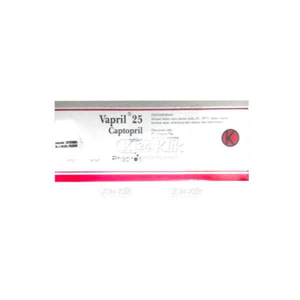 VAPRIL 25MG TAB 100S