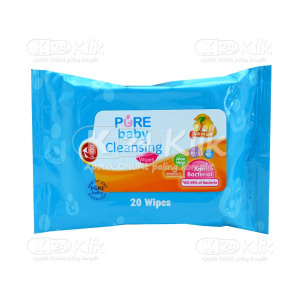PURE BABY CLEANSING WIPES LEMON 20S