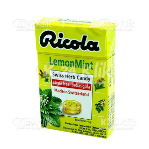 RICOLA SF LEMON MINT CANDY 45G
