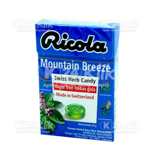 RICOLA SF MOUNTAIN BREEZE CANDY 45G