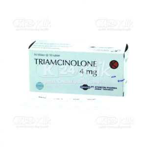 TRIAMCINOLON 4MG TAB 100S