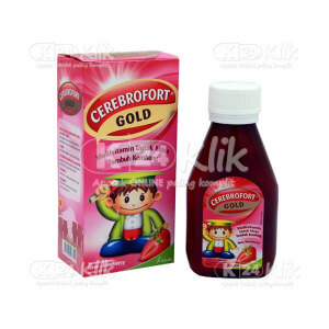 CEREBROFORT GOLD STRAWBERRY 100ML