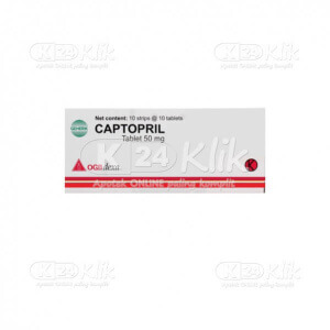 CAPTOPRIL DEXA 50MG TAB 100S