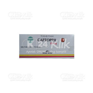 CAPTOPRIL KF 25MG TAB 100S