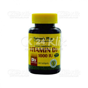 NATURE PLUS VITAMIN D3 1000IU SOFTGEL 180S BTL