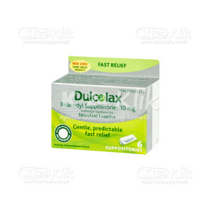 DULCOLAX SUPP ADULT 6S