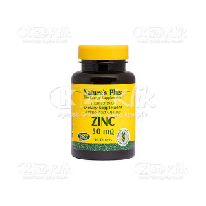 NATURE PLUS ZINC 50MG TAB 90S