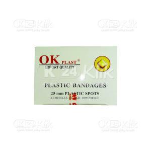 OK PLAST PLASTIC BANDAGES 25MM 100S