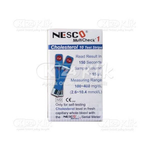 NESCO CHECK CHOLESTEROL STRIP 10S