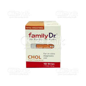 FAMILY DR CHOLESTEROL MONITORING STRIP 10S