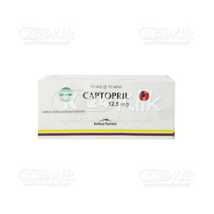 CAPTOPRIL KF 12.5MG TAB 100S