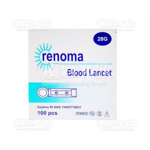 RENOMA BLOOD LANCET 28G 100S