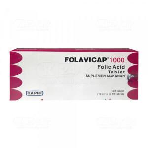FOLAVICAP 1000MCG TAB 100S