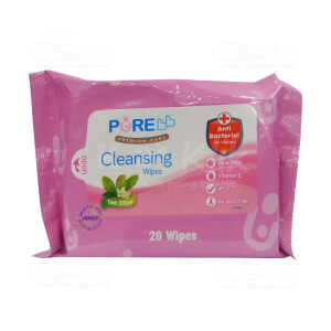 PUREBABY CLEANSING WIPES TEA OLIVE 20S
