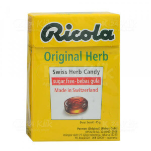 RICOLA SF HERB CANDY 45G
