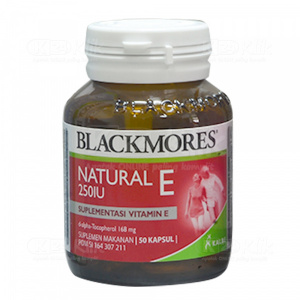 BLACKMORES NATURAL E 250IU SOFT CAPS 50S BTL