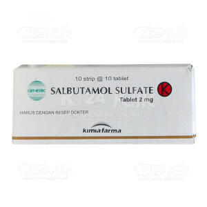 SALBUTAMOL KF 2 MG TAB 100S
