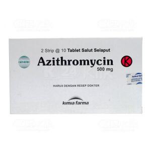 AZITHROMYCIN KF 500MG TAB 20S