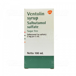 VENTOLIN SYR 100ML 2MG/5ML