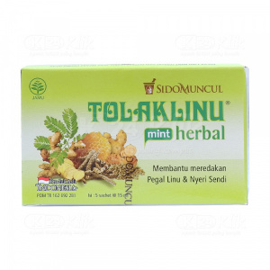 TOLAK LINU HERBAL MINT 15ML SACH 5S