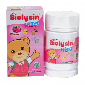 BIOLYSIN KIDS TAB STRAWBERRY 30'S