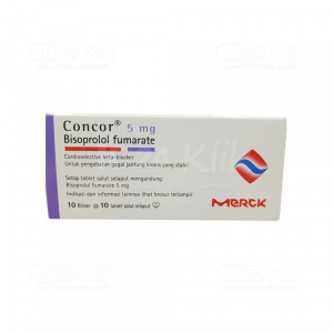 CONCOR 5MG TAB 100/BOX