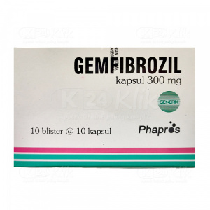 GEMFIBROZIL PHAPROS 300MG CAP 100S